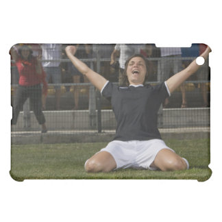 German female soccer player celebrating goal iPad mini cases