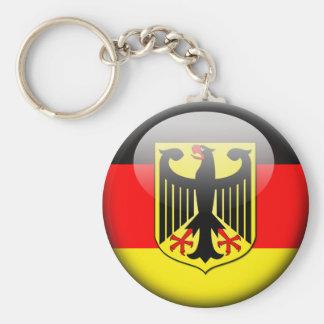 German Flag 2.0 Basic Round Button Key Ring