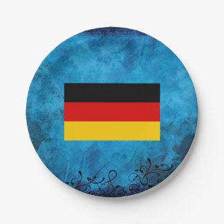 German flag 7 inch paper plate