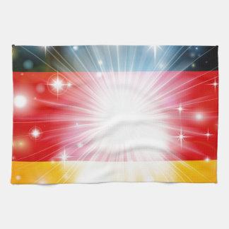 German flag background towel