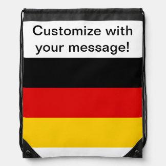 German Flag Drawstring Backpacks