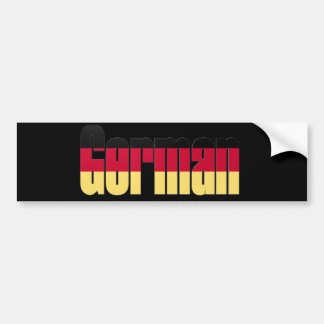 German Flag Bumper Sticker