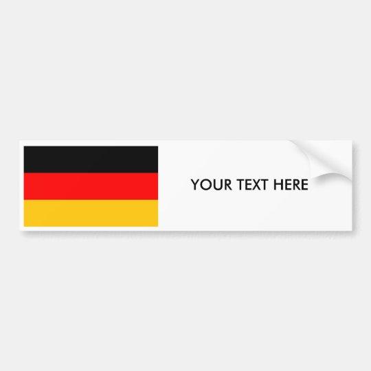 GERMAN FLAG Bumper Sticker