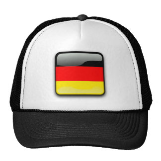 German Flag Button Hats