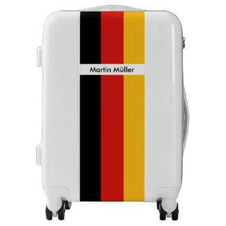 GERMAN FLAG COLORS stripes + your ideas Luggage