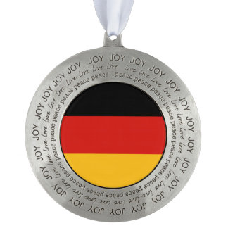 GERMAN FLAG COLORS + your ideas Round Pewter Ornament