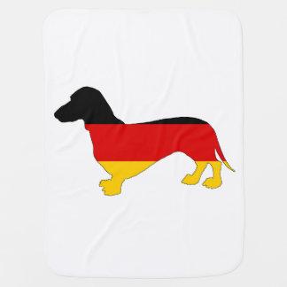 German Flag - Dachshund Baby Blanket