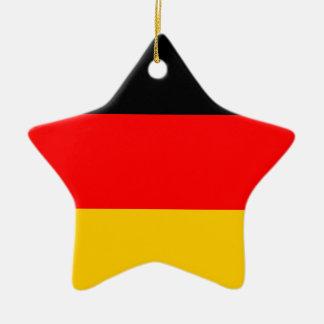 German Flag Deutsche Flagge Ceramic Star Decoration