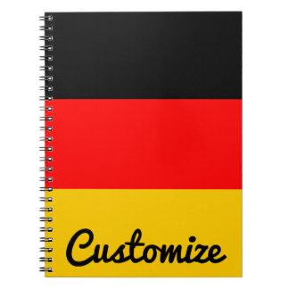 German Flag Deutsche Flagge Custom Notebook