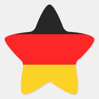 German Flag Deutsche Flagge Star Sticker