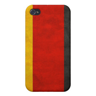 German Flag Distressed Hard Shell Case iPhone 4 Case
