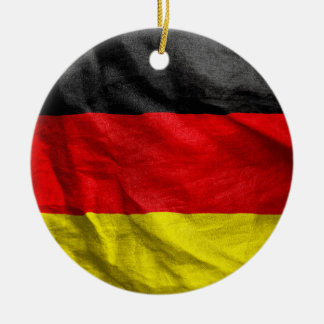 German Flag Double-Sided Round Christmas Ornament