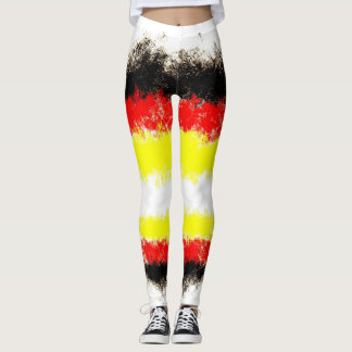 german flag graffiti art leggings