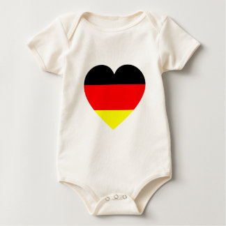 German Flag Heart Baby Bodysuit