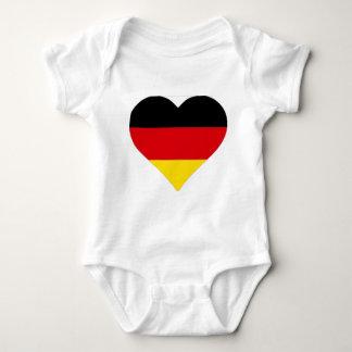 German Flag Heart Baby Bodysuit