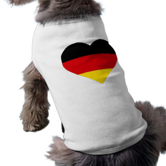German Flag Heart Sleeveless Dog Shirt