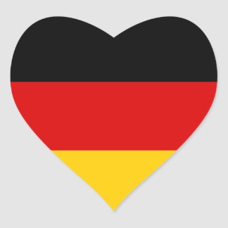 German Flag Heart Sticker