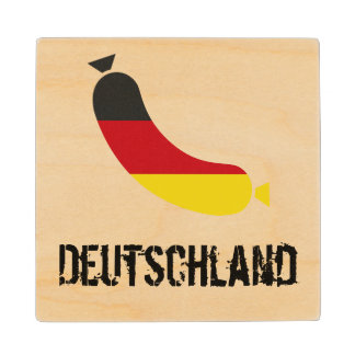 German flag in a sausage beer coaster