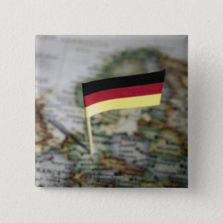 German flag in map 15 cm square badge