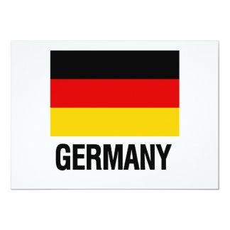 German Flag 13 Cm X 18 Cm Invitation Card