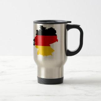 German Flag Map Travel Mug