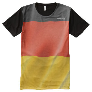 German flag Men's-All-Over-Printed-Panel-T-Shirt All-Over Print T-Shirt