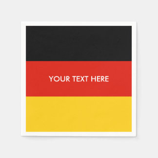 German flag of Germany custom party napkins Paper Napkin