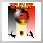 German flag of Germany soccer ball bicycle kick Poster
