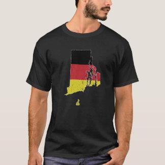 German Flag over Rhode Island T-Shirt