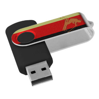 German Flag Ski Winter Sports Germany USB Flash Drive