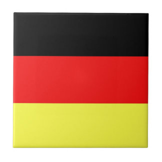 German Flag Small Square Tile