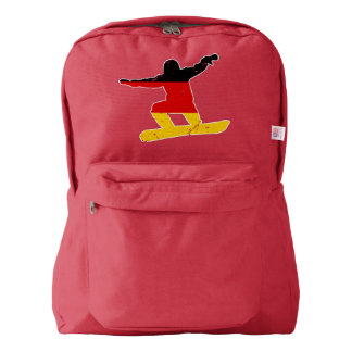 German flag SNOWBOARDER (wht) Backpack