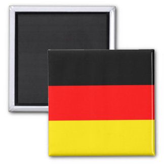 German Flag Square Magnet