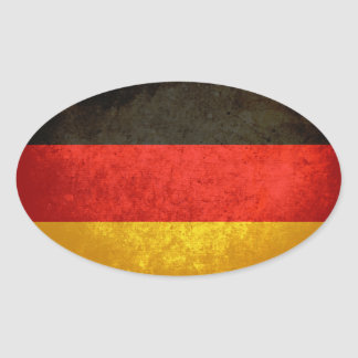 German Flag Oval Stickers