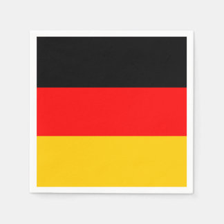German Flag: Tricolor Oktoberfest Party Paper Napkin