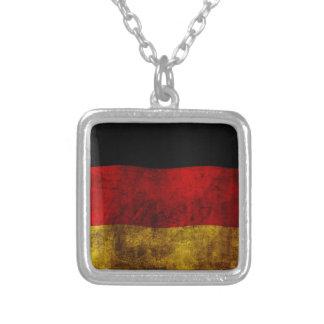 German Flag - Vintage Square Pendant Necklace