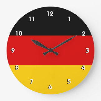 German flag wall clock with numbers