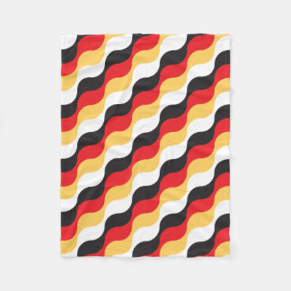 german flag waving fleece blanket