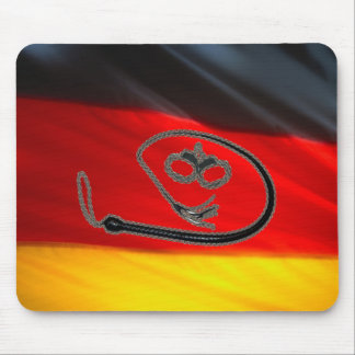 GERMAN FLAG WHIP AND CUFFS MOUSE PAD