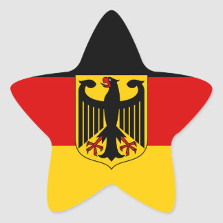 German Flag with Crest Sticker (Star)