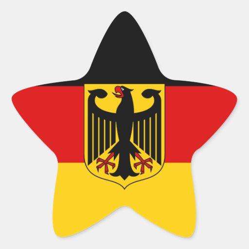 German Flag with Crest Sticker (Star)