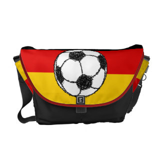German Flag with Football Commuter Bag