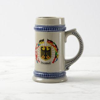 German Flags Pinwheel Beer Stein