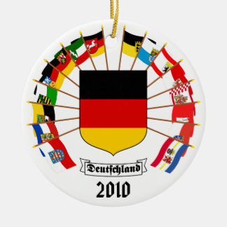 German Flags Pinwheel Christmas Ornament