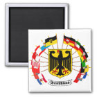 German Flags Pinwheel Magnet