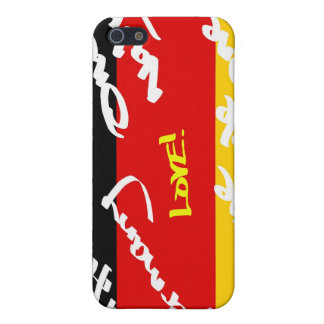 German Flga covered in Graffiti Cover For iPhone 5/5S
