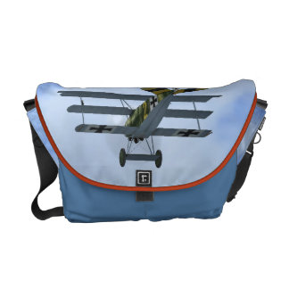 German Fokker DR1 Fighter Plane Messenger Bag