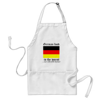German food is the wurst standard apron