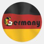 German Football Flag Round Sticker