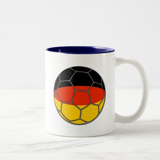 German Futball  Flag Two-Tone Coffee Mug